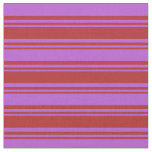 [ Thumbnail: Red and Orchid Colored Lined/Striped Pattern Fabric ]