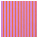 [ Thumbnail: Red and Orchid Colored Pattern Fabric ]