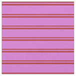 [ Thumbnail: Red and Orchid Stripes Pattern Fabric ]