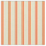 [ Thumbnail: Red and Pale Goldenrod Colored Lines Fabric ]