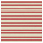 [ Thumbnail: Red and Pale Goldenrod Colored Stripes Fabric ]