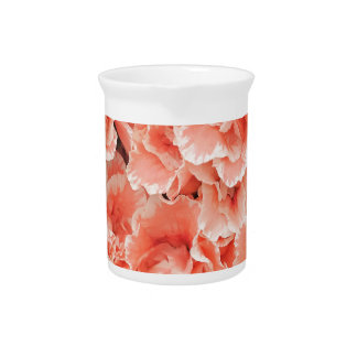 Red and pink azalea beverage pitcher