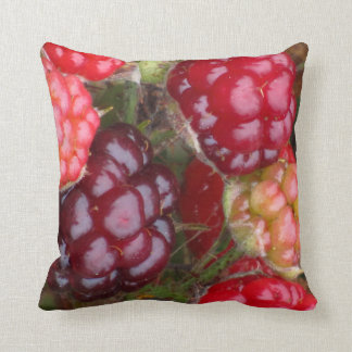 Red and Pink Berries Throw Pillow