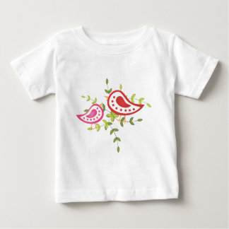 Red and Pink Birds Baby T-Shirt