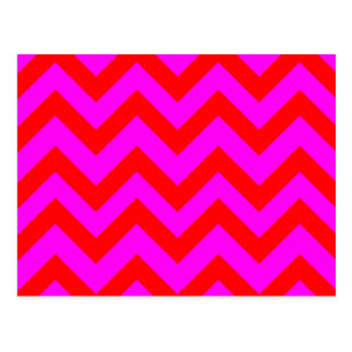Red And Pink Chevrons Postcard