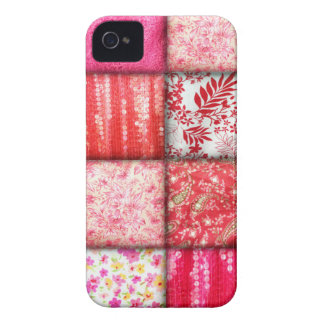 Red and Pink Faux Patchwork Quilting Pattern Case-Mate iPhone 4 Cases