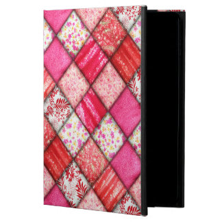 Red and Pink Faux Patchwork Quilting Pattern Powis iPad Air 2 Case