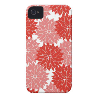 Red and Pink Flower Blossoms Floral Print iPhone 4 Cover