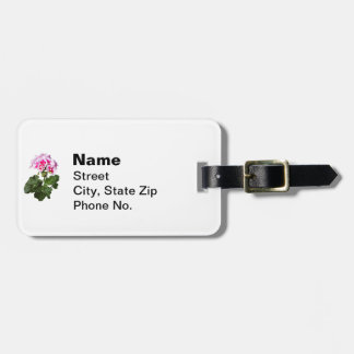 Red And Pink Geranium Luggage Tag