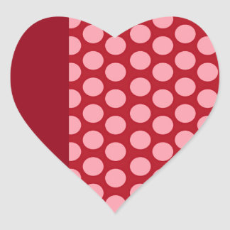 Red and Pink heart Valentine's Day Heart Sticker