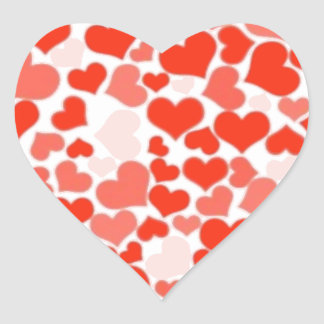 Red and Pink Hearts Heart Sticker