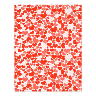 Red and Pink Hearts Letterhead