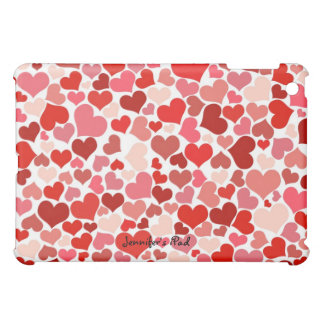 Red and Pink Hearts Mini iPad Case