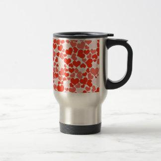 Red and Pink Hearts Travel Mug