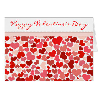 Red and Pink Hearts Valentine's Day Card