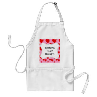 Red and Pink Hearts Valentine's Day Pattern Adult Apron