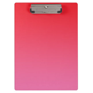 """""""Red And Pink Ombre"""" Clipboard"""