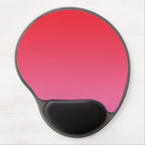 """Red And Pink Ombre"" Gel Mouse Pad"