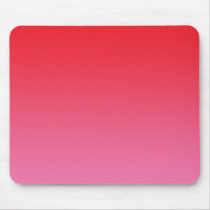 """Red And Pink Ombre"" Mouse Pad"