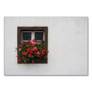 Red And Pink Pelargonium Card