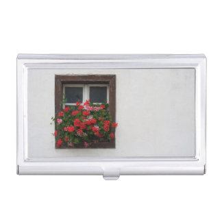 Red And Pink Pelargonium Case For Business Cards