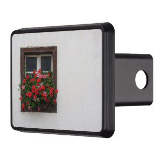 Red And Pink Pelargonium Hitch Cover