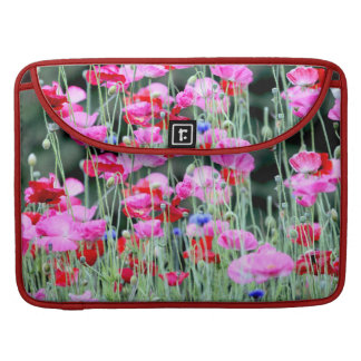 Red and Pink Poppies Sleeve For MacBook Pro