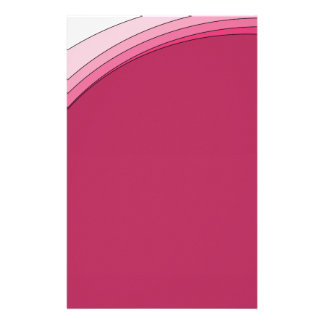 Red and Pink Ribbon Stationery