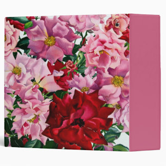 Red and Pink Roses 2008 Binder