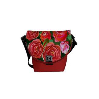 Red and Pink Roses Rickshaw Mini  Messenger Bag