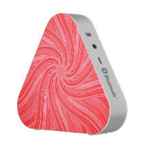 Red and Pink Spiral  Print Bluetooth Speaker
