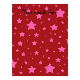 Red and pink stars personalized flyer