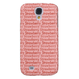 Red and Pink Strawberry Pattern Samsung Galaxy S4 Case
