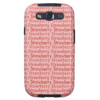 Red and Pink Strawberry Pattern Samsung Galaxy SIII Covers