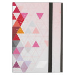 Red and pink triangles iPad cover