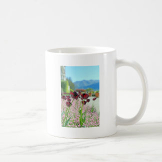 Red and Pink Tulip Blossoms Classic White Coffee Mug