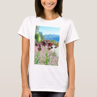 Red and Pink Tulip Blossoms T-Shirt