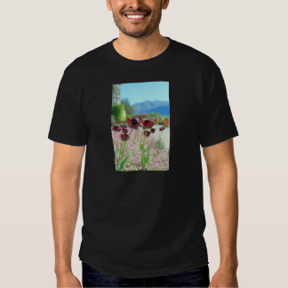 Red and Pink Tulip Blossoms Tee Shirt