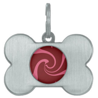 Red and Pink Twist Pet Name Tag