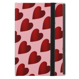 Red and pink Valentines Day hearts Cover For iPad Mini