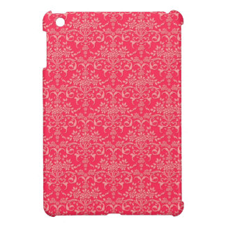 Red and PInk Victorian Damask Style Pattern iPad Mini Cover