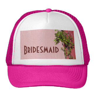 Red And Pink Wedding With Ivy Bridesmaid Cap Trucker Hat