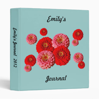 Red and Pink Zinnias binder