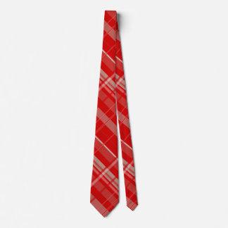 Red and Platinum Plaid Tie