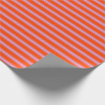 [ Thumbnail: Red and Plum Colored Pattern Wrapping Paper ]