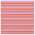 [ Thumbnail: Red and Plum Colored Striped Pattern Fabric ]
