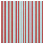 [ Thumbnail: Red and Powder Blue Striped Pattern Fabric ]