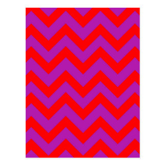 Red And Purple Chevron Postcard