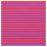 [ Thumbnail: Red and Purple Colored Striped Pattern Fabric ]