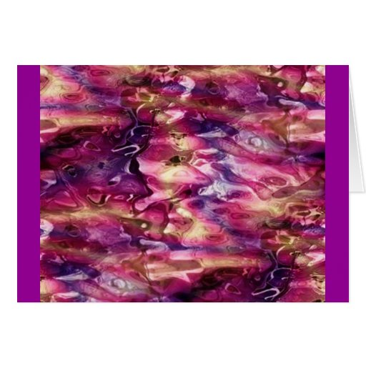 red_and_purple_dimple_glass greeting card